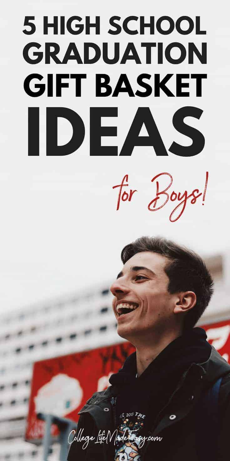 3 DIY College Gift Baskets for Boys (Free Gift Tags Included!) 3