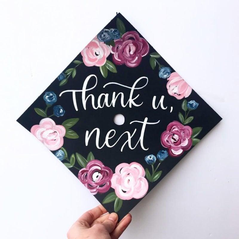 college graduation cap ideas - thank u next