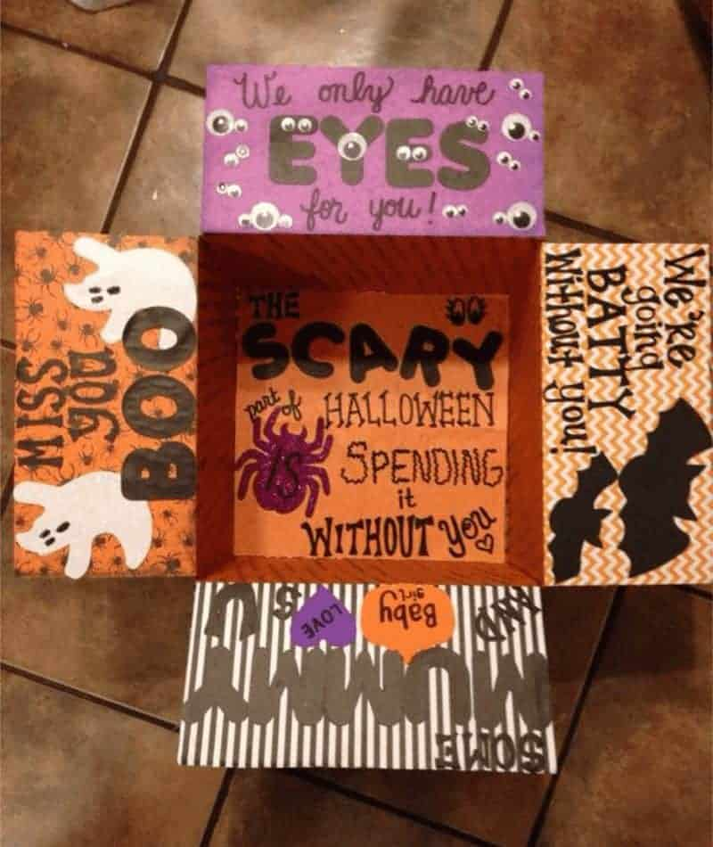college care packages Halloween