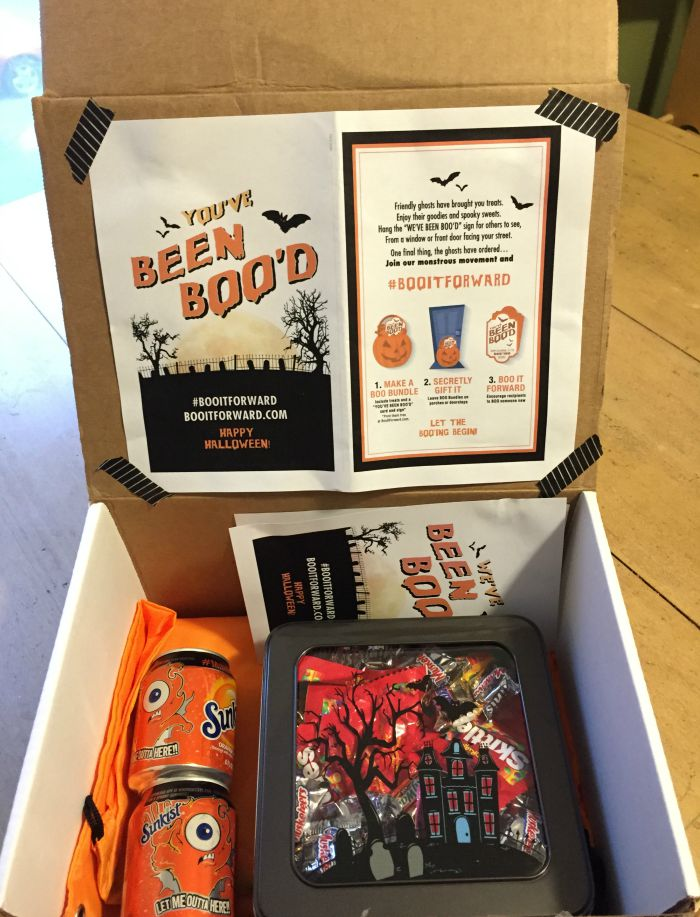 """""""You've been boo'd"""" college care package idea"""