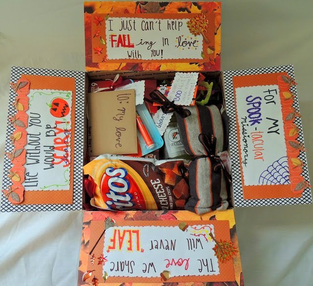 Orange ideas for Halloween care package