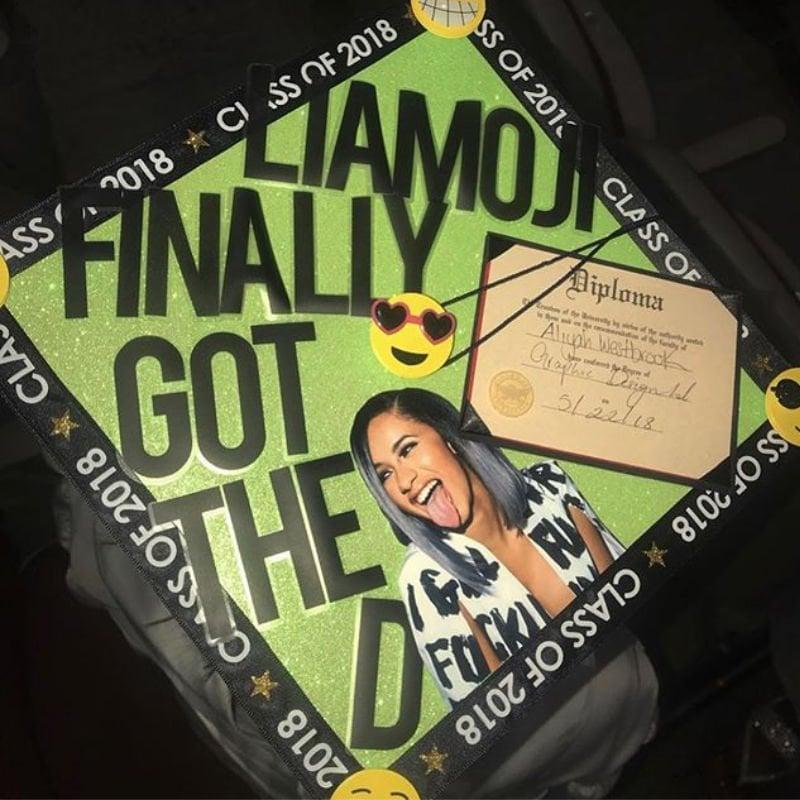 funny graduation caps 2019 - cardi b