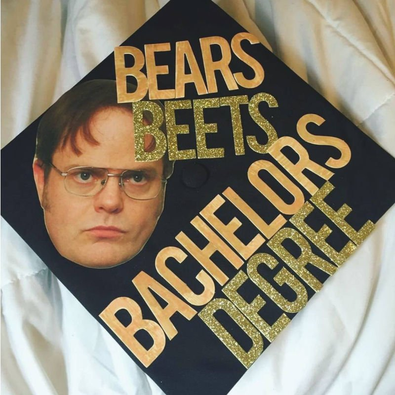 funny grad caps - Dwight the office