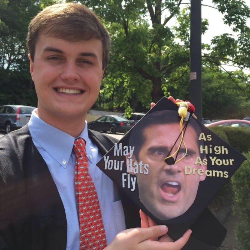 funny ideas for graduation caps - may your hats fly