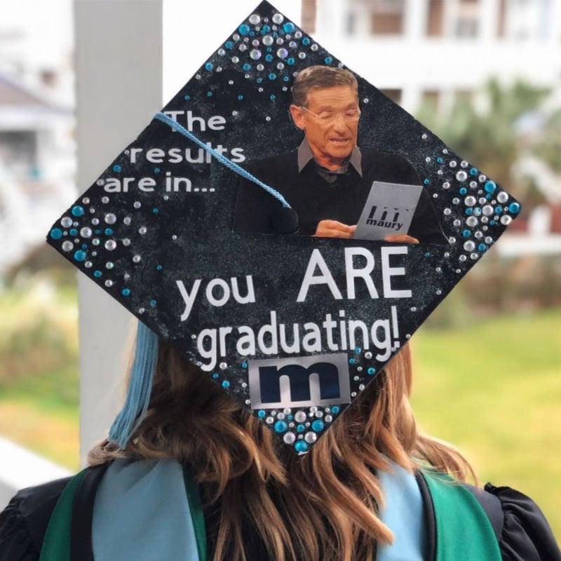 graduation cap funny ideas - maury