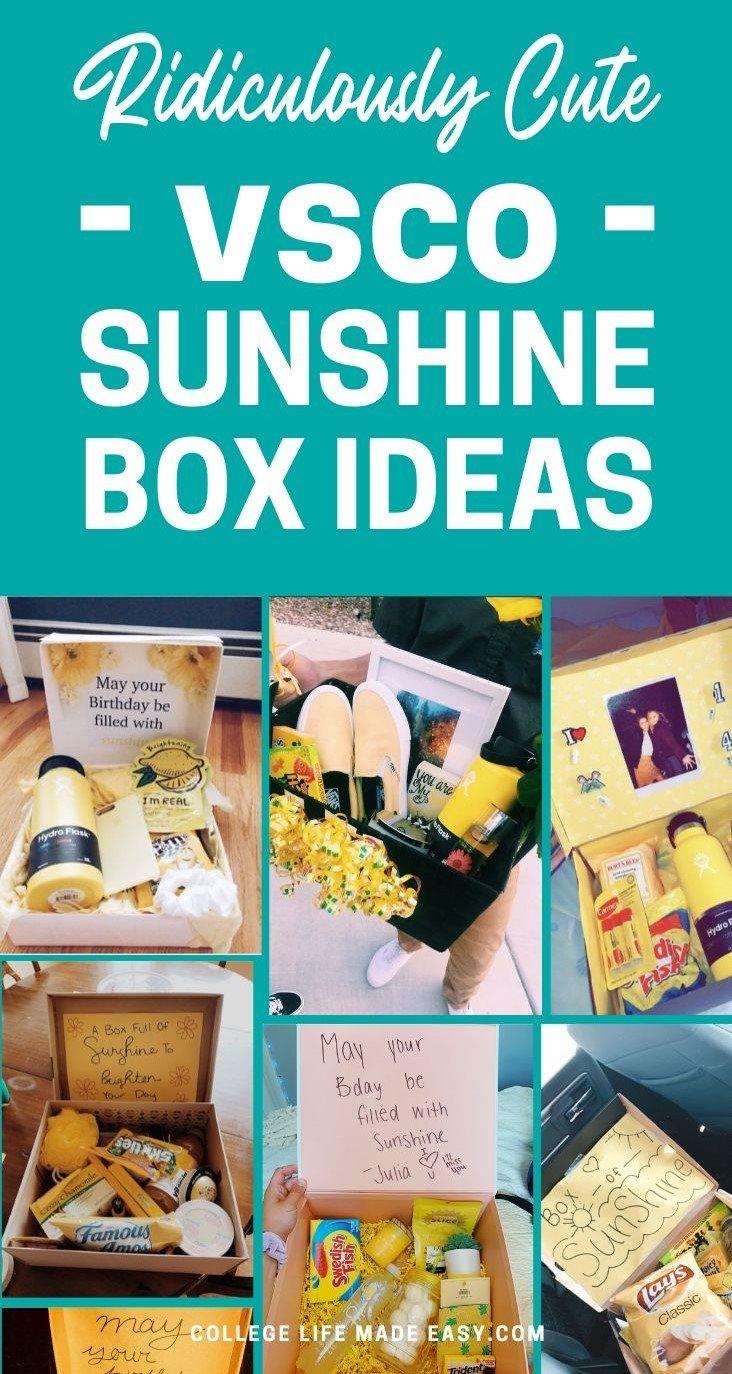ridiculously cute sunshine box vsco ideas - pinterest image