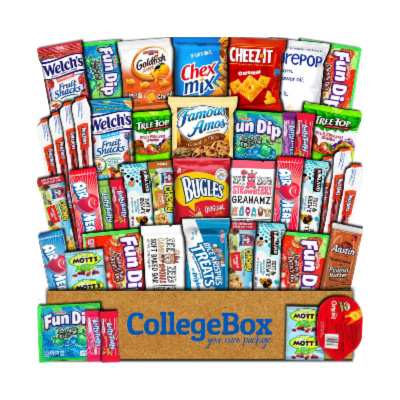 snacks are always practical college gifts