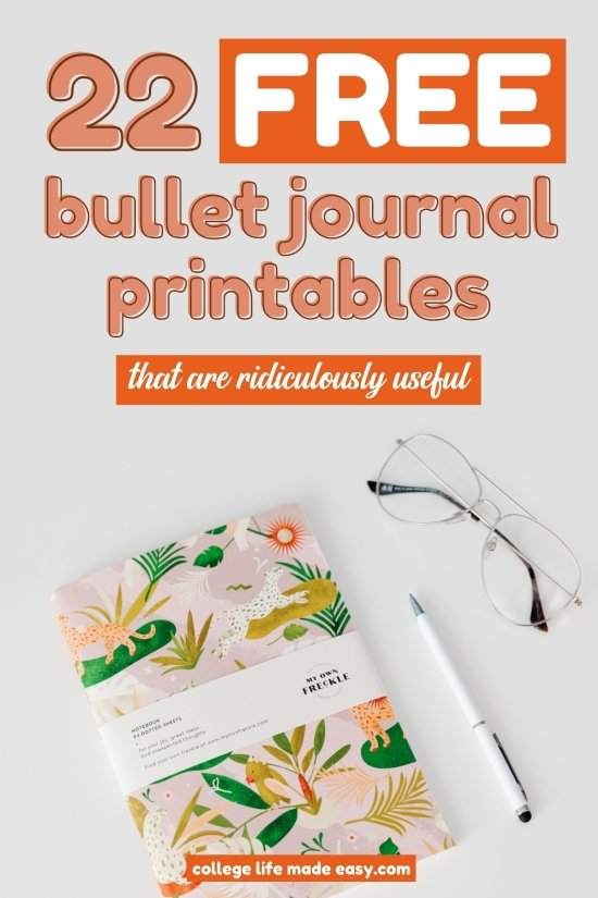 22 FREE Bullet Journal Printables That Are Ridiculously Useful 2