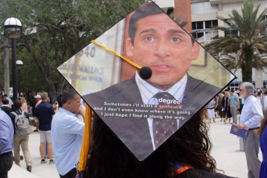 funny The Office quote by Michael on a grad cap