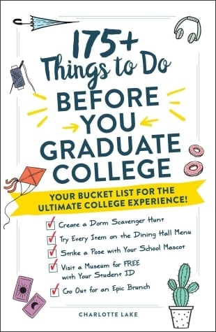 175+ things to do before you graduate college book cover
