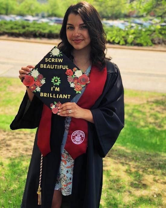 screw beautiful I'm brilliant nursing graduation cap