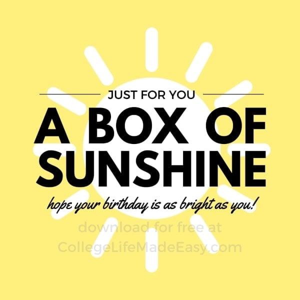 little box of sunshine free printable example 8