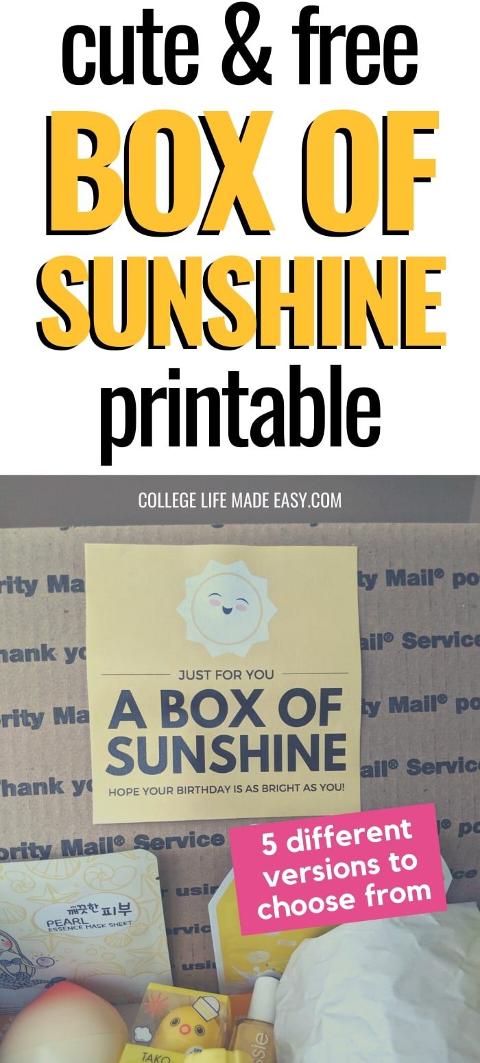 cute & free box of sunshine printable