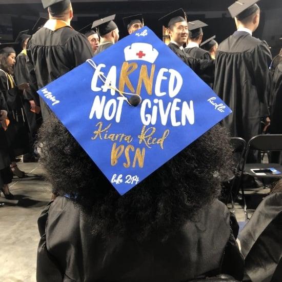 eaRNed not given nurse graduation cap idea