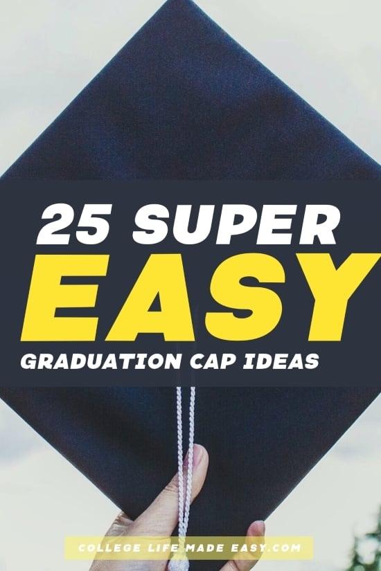 super easy graduation cap ideas - Pinterest