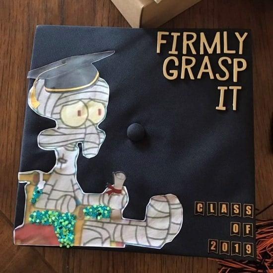 firmly grasp it decorated grad cap