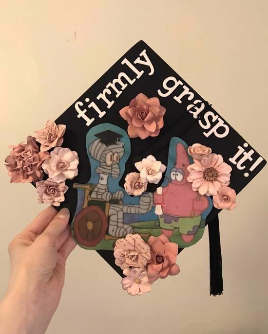 firmly grasp it! spongebob graduation quote design