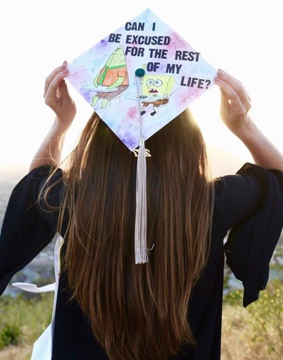 can i be excused for the rest of my life graduation cap
