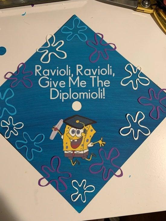 spongebob graduation cap idea example