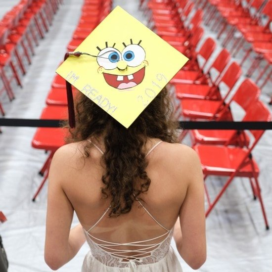 I'm ready spongebob's face on graduation cap topper
