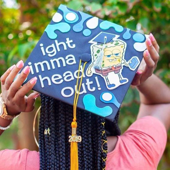 ight imma head out graduation cap design