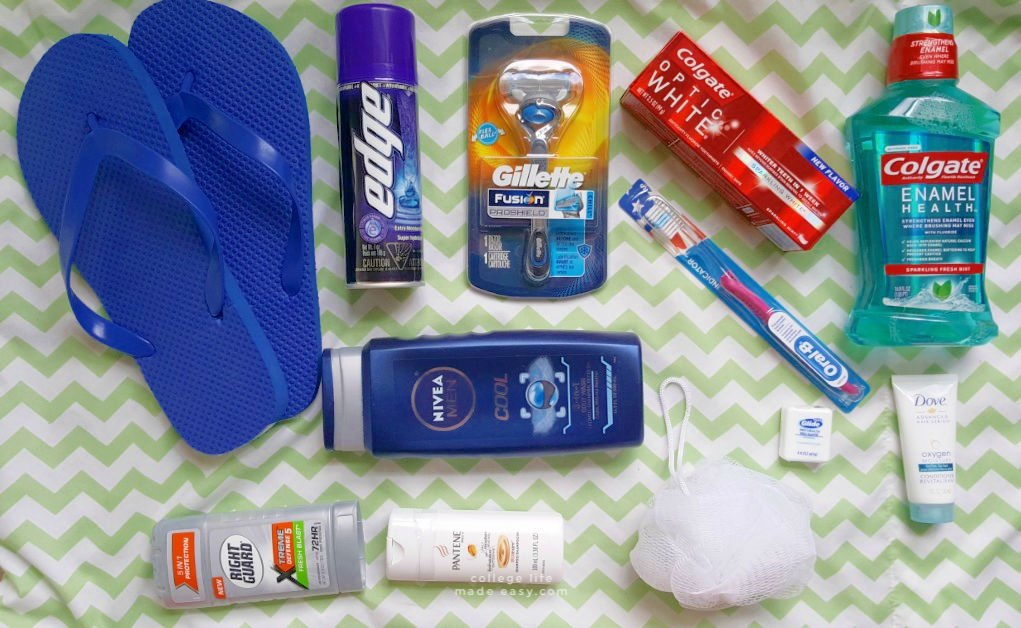 flatlay of the items included in the college student gift basket