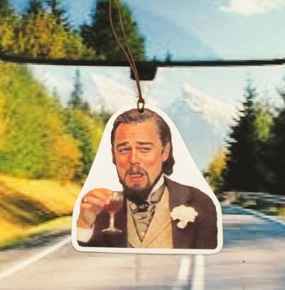 Leonardo DiCaprio Car Air Freshener, #DiCaprio #Memes #Django Scented Air Freshener, Car Accessory Gift, original gift, funny gift